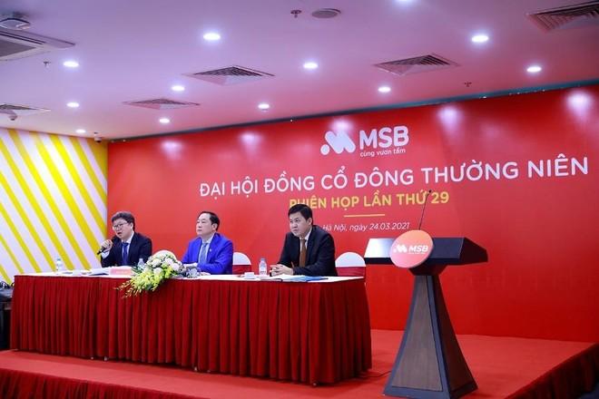 Đại hội đồng cổ đông MSB: Mục tiêu lợi nhuận tăng 30%, phủ nhận sáp nhập PGBank ảnh 1