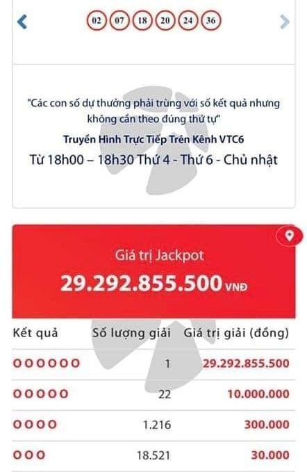 Mua xổ số Vietlott qua điện thoại, chủ thuê bao trúng Jackpot hơn 29 tỷ đồng ảnh 1