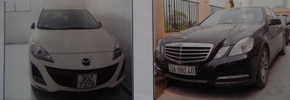 Xe ô tô các đối tượng mua từ tiền thu được của các bị hại