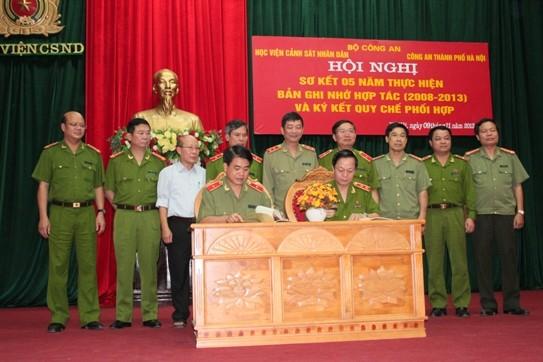 Nâng cao hiệu quả phối hợp toàn diện giữa Học viện CSND và CATP Hà Nội