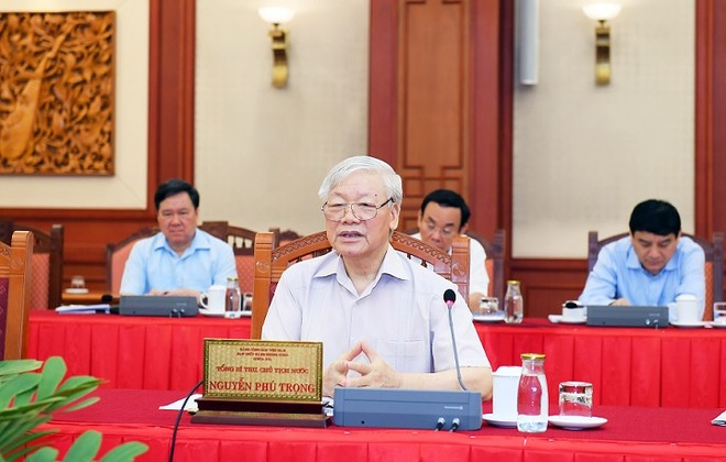 Tập thể Bộ Chính trị làm việc với Ban Thường vụ Đảng ủy Công an Trung ương ảnh 2