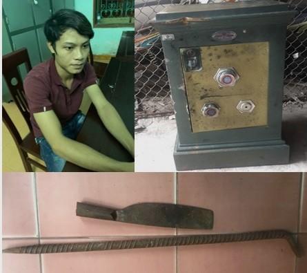 Tên trộm nằm phục hơn 2 tiếng đồng hồ để rình phá két rồi bỏ trốn hàng trăm cây số ảnh 1