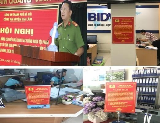 Huyện Gia Lâm (Hà Nội): 100% cơ sở giao dịch Ngân hàng đã được trang bị thông tin cảnh báo tội phạm ảnh 1