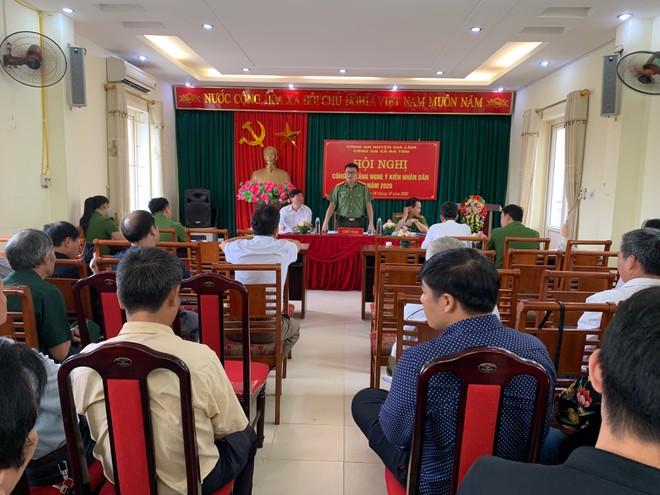Công an huyện Gia Lâm (Hà Nội): Lắng nghe ý kiến nhân dân để ngày càng hoàn thiện ảnh 1