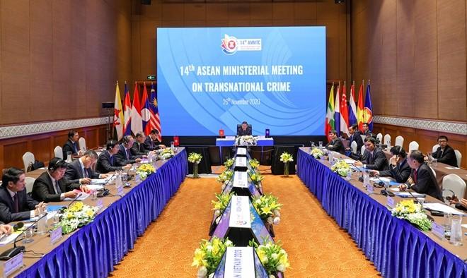 Thông qua tuyên bố chung của Hội nghị Bộ trưởng ASEAN về phòng, chống tội phạm xuyên quốc gia lần thứ 14 ảnh 1