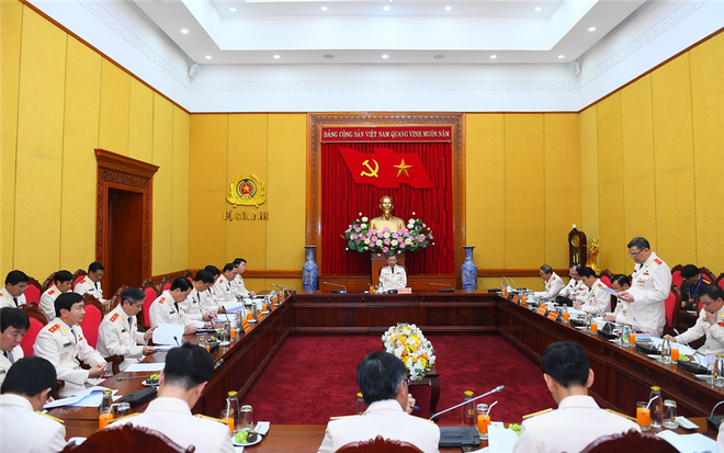 Đoàn đại biểu Đảng bộ Công an Trung ương họp phiên thảo luận đóng góp ý kiến vào Văn kiện Đại hội XIII của Đảng ảnh 1
