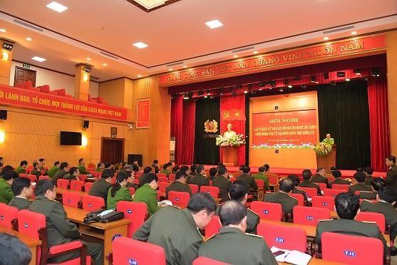 Bộ Công an tổ chức Hội nghị lấy ý kiến cử tri đối với người được dự kiến giới thiệu ứng cử đại biểu Quốc hội khóa XV ảnh 1