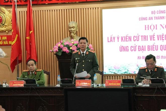 Giám đốc CATP Hà Nội được giới thiệu ứng cử đại biểu Quốc hội khóa XV ảnh 1