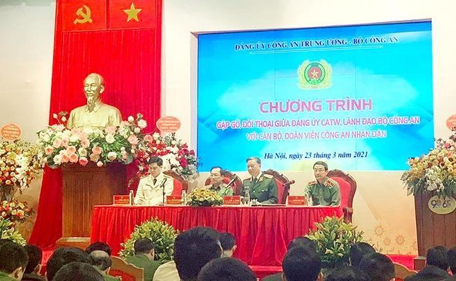 Đại tướng Tô Lâm - Bộ trưởng Bộ Công an đối thoại với đoàn viên thanh niên CAND ảnh 1