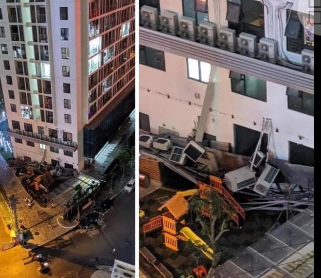 """Hà Nội: Tá hỏa cả dàn cục nóng điều hòa 'rụng"""" thẳng xuống từ chung cư cao tầng ảnh 1"""