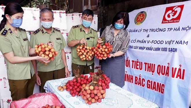 Cục Quản lý thị trường Hà Nội đăng ký tiêu thụ 5 tấn vải thiều ảnh 1