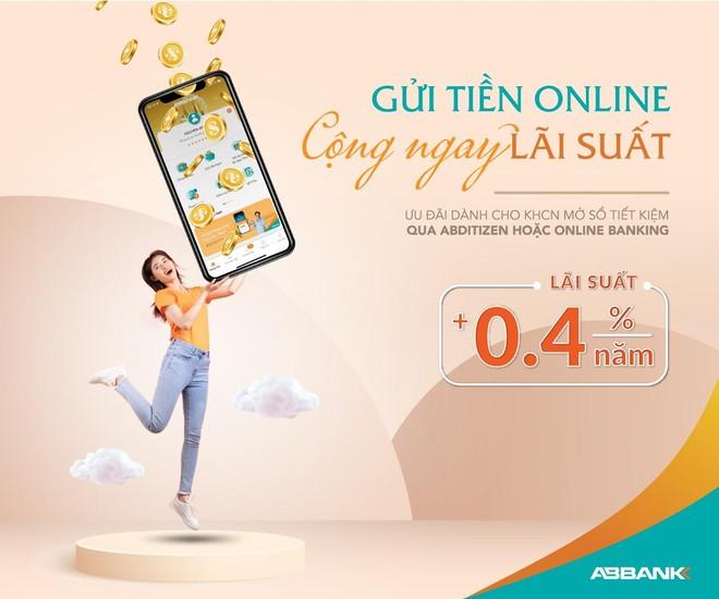 Hưởng thêm lãi suất khi gửi tiết kiệm online tại ABBANK ảnh 1