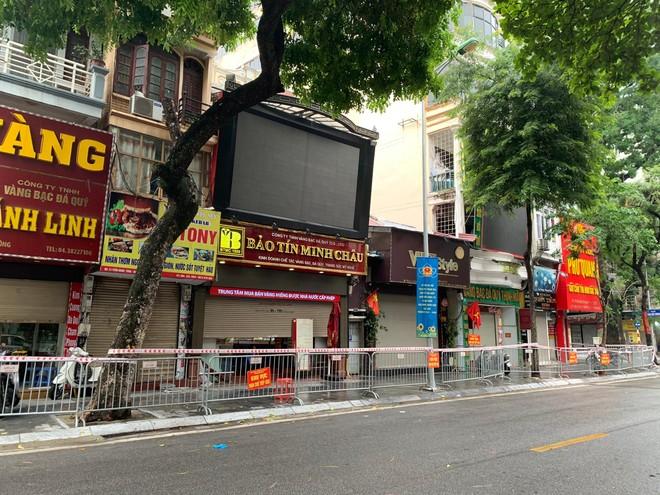 Hà Nội: Phong tỏa 3 hiệu vàng và 8 số nhà trên phố Trần Nhân Tông vì có trường hợp F0 ảnh 1