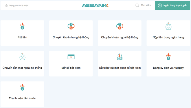 Đăng ký giao dịch trực tuyến Web Check-in tại ABBANK ảnh 1