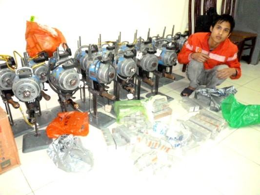 Nam công nhân trộm 16 máy cắt vải công nghiệp ảnh 1