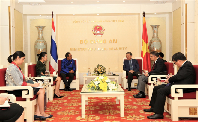 Bộ trưởng Bộ Công an Tô Lâm tiếp Đại sứ Vương quốc Thái Lan ảnh 1