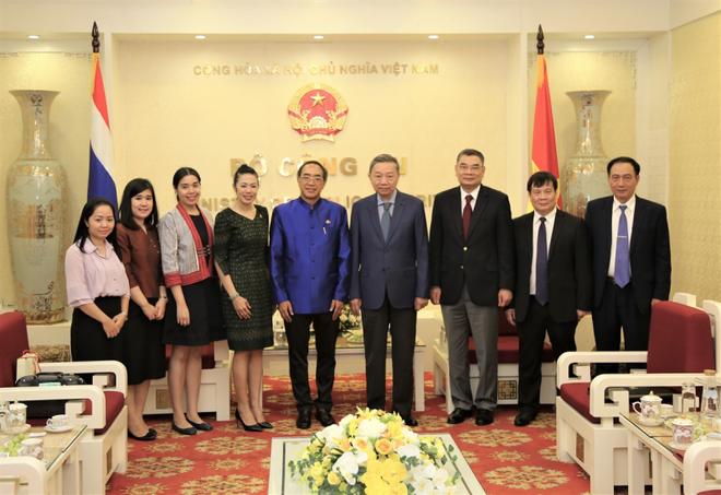 Bộ trưởng Bộ Công an Tô Lâm tiếp Đại sứ Vương quốc Thái Lan ảnh 3