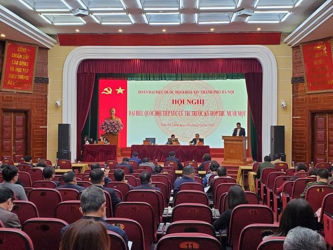 Đoàn Đại biểu Quốc hội Hà Nội, đơn vị bầu cử số 5 tiếp xúc cử tri trước kỳ họp thứ 11, Quốc hội khóa XIV ảnh 2