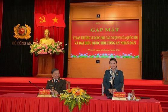 Bộ Công an gặp mặt Ủy ban Thường vụ Quốc hội và các cơ quan của Quốc hội ảnh 1