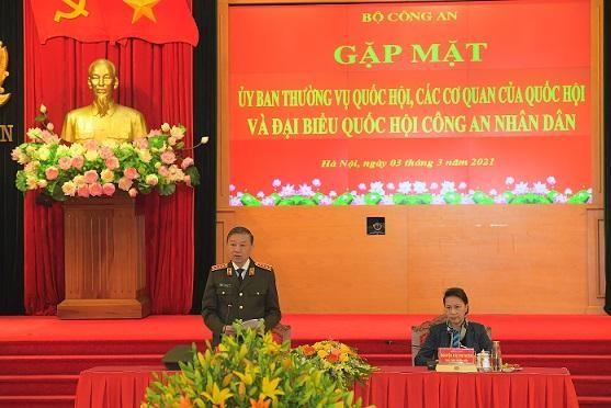 Bộ Công an gặp mặt Ủy ban Thường vụ Quốc hội và các cơ quan của Quốc hội ảnh 2