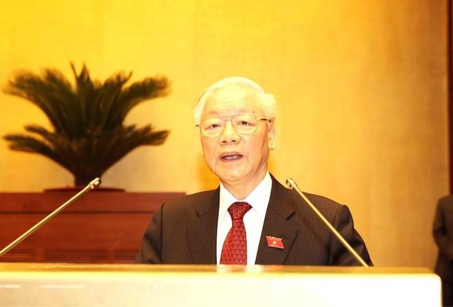 Tổng Bí thư Nguyễn Phú Trọng: Mỗi Đại biểu Quốc hội khoá XV cần tiếp tục nêu cao tinh thần trách nhiệm, hết lòng vì nước, vì dân ảnh 1