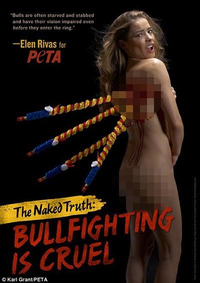 Rùng mình cảnh Elen Rivas nude để bảo vệ động vật ảnh 1