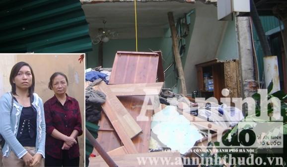 Hà Nội: Vừa xảy ra nổ bình gas, nhà sập vùi 2 em nhỏ