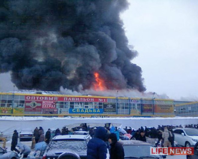 Cháy lớn ở chợ của thương nhân người Việt ở Nga ảnh 1
