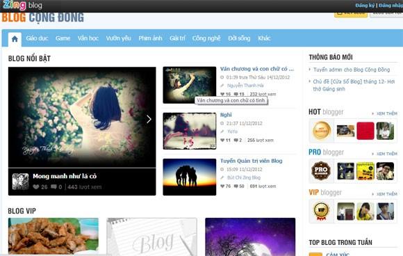 Ra mắt Zing Blog thay thế Yahoo Blog ảnh 1