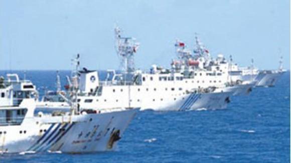Ba tàu Hải giám Trung Quốc bám theo tàu Ngư chính vào Senkaku/Điếu Ngư ảnh 1