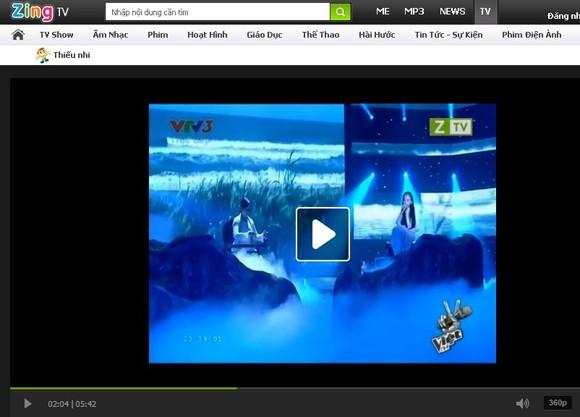 Clip Phương Mỹ Chi vẫn có mặt trên Zing TV ảnh 1