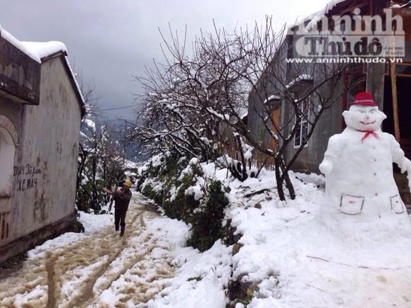 Sa Pa: Tuyết dày 50cm, nhiều vụ tai nạn giao thông do trơn trượt ảnh 2
