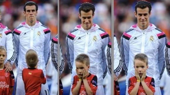 Phản ứng ngộ nghĩnh của cậu bé Cardiff khi đứng cạnh Gareth Bale ảnh 2
