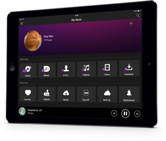 Zing Mp3 ra mắt phiên bản dành cho máy tính bảng ảnh 1