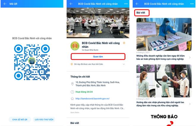 Bắc Ninh: Gần 13.000 công nhân, người lao động theo dõi trang Zalo chống dịch Covid-19 ảnh 1