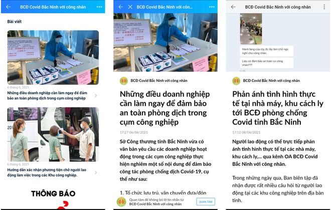 Bắc Ninh: Gần 13.000 công nhân, người lao động theo dõi trang Zalo chống dịch Covid-19 ảnh 2