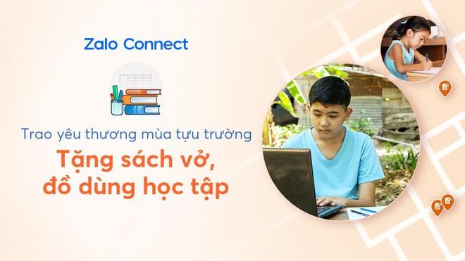 Hỗ trợ đồ dùng học tập cho học sinh qua Zalo Connect ảnh 1