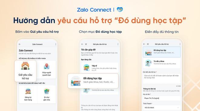 Hỗ trợ đồ dùng học tập cho học sinh qua Zalo Connect ảnh 2