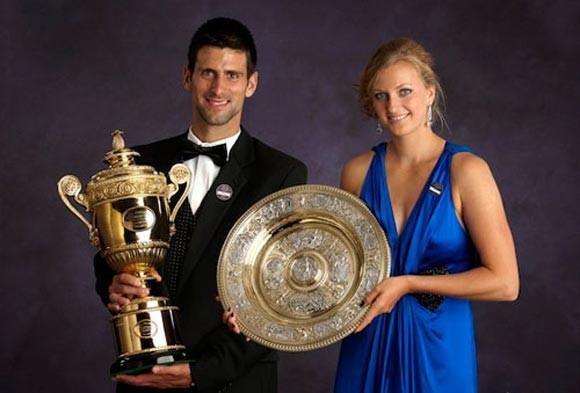 Djokovic, Kvitova được vinh danh