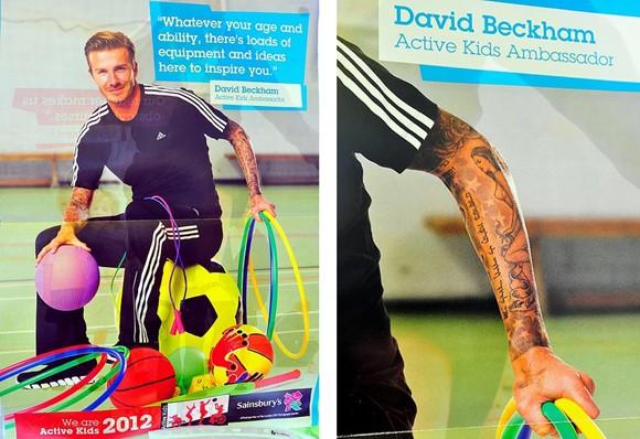 Beckham gặp rắc rối với hình xăm vợ mặc đồ lót