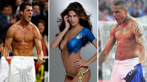 C. Ronaldo lén lút tán tỉnh vợ chưa cưới của Boateng ảnh 1