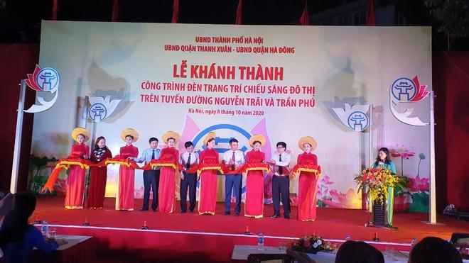 Khánh thành công trình trang trí chiếu sáng trên trục đường Nguyễn Trãi - Trần Phú ảnh 1