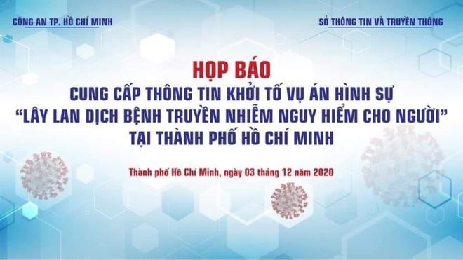 Công an TP Hồ Chí Minh khởi tố vụ án liên quan đến bệnh nhân 1342 vi phạm quy định cách ly ảnh 1