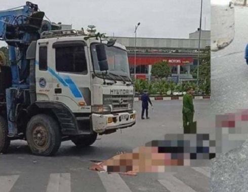 Va chạm với xe tải, một người đàn ông đi xe máy tử vong tại chỗ ảnh 1