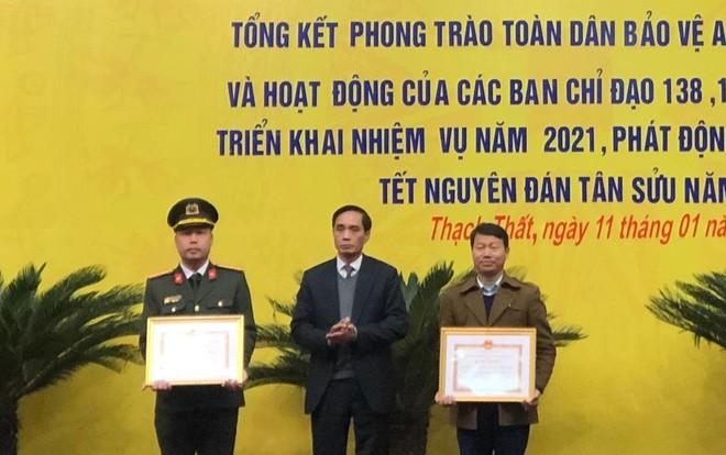 Huyện Thạch Thất ra quân đảm bảo an ninh trật tự Tết Nguyên đán 2021 ảnh 2