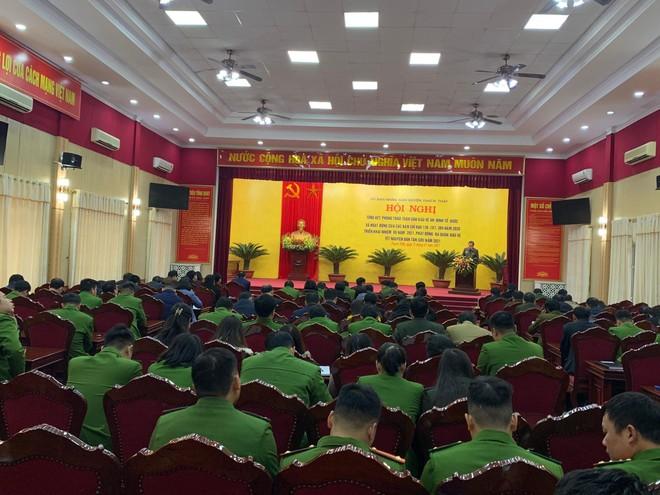 Huyện Thạch Thất ra quân đảm bảo an ninh trật tự Tết Nguyên đán 2021 ảnh 1