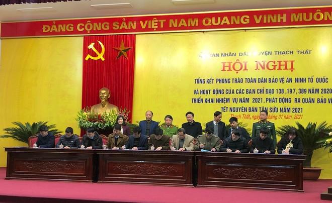 Huyện Thạch Thất ra quân đảm bảo an ninh trật tự Tết Nguyên đán 2021 ảnh 4
