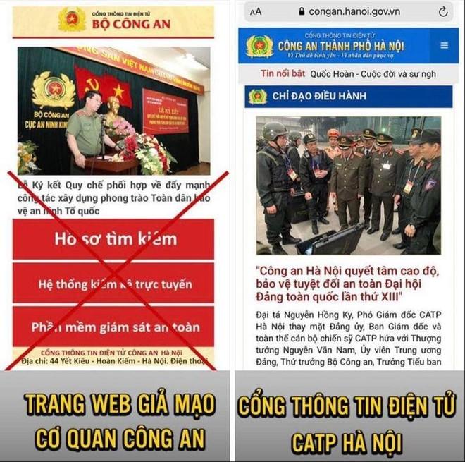 Công an Hà Nội phát hiện trang web giả mạo gắn 'mã độc' ảnh 1