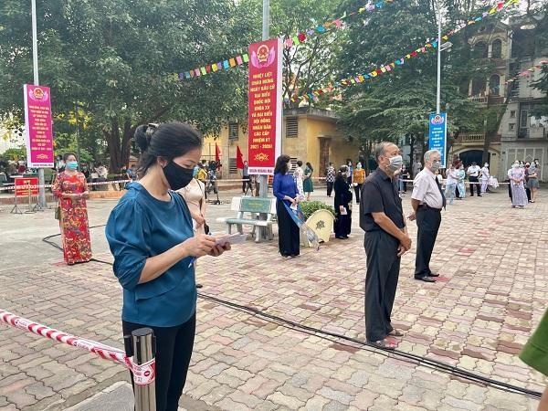 Quận Hoàng Mai: Đảm bảo hoạt động bầu cử diễn ra trong an toàn ảnh 2