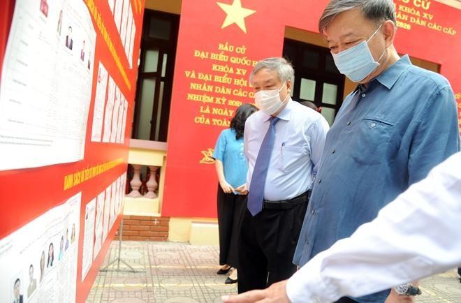 Đại tướng Tô Lâm bỏ phiếu bầu cử tại quận Ba Đình ảnh 2